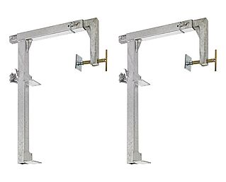 Set of balcony clamps