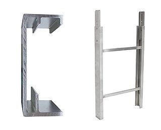 Ladder section 200/250 kg - 0.75 m
