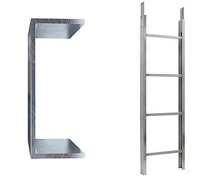 Ladder section 150/200 kg - 2 m