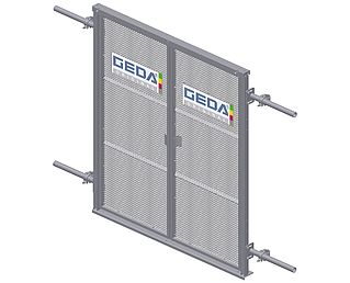 High & closed landing level safety gate