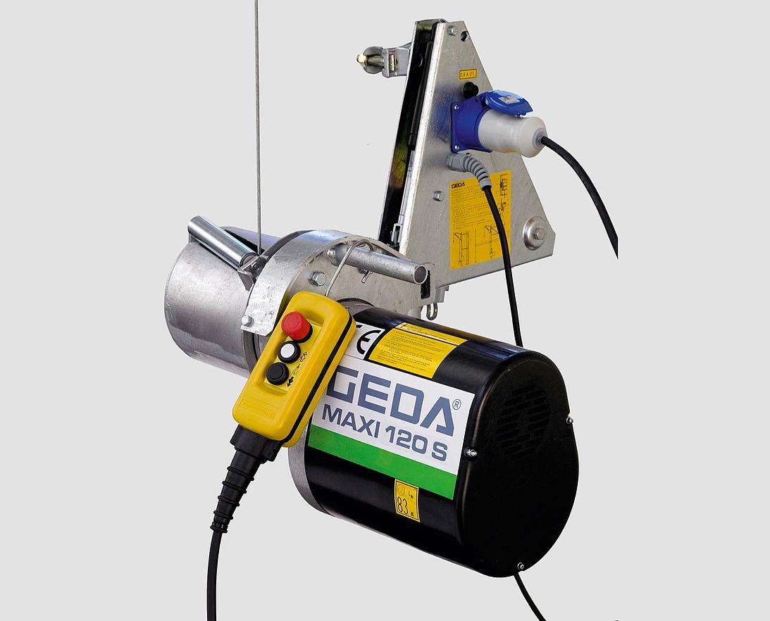 GEDA Mini 60S Bauwinde Seilaufzug Gerüstwinde Materialtransport Bauaufzug 51 m